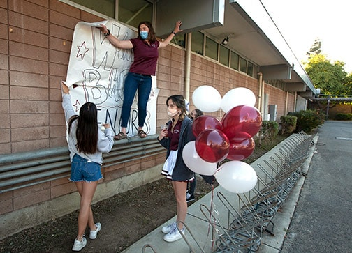 CHS welcomes back students…finally
