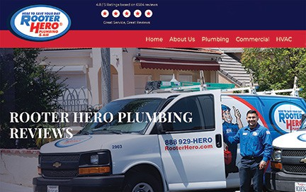 Rooter Hero's main website page