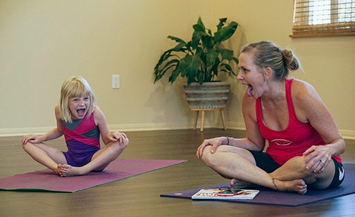Families Come Out to Claremont Yoga