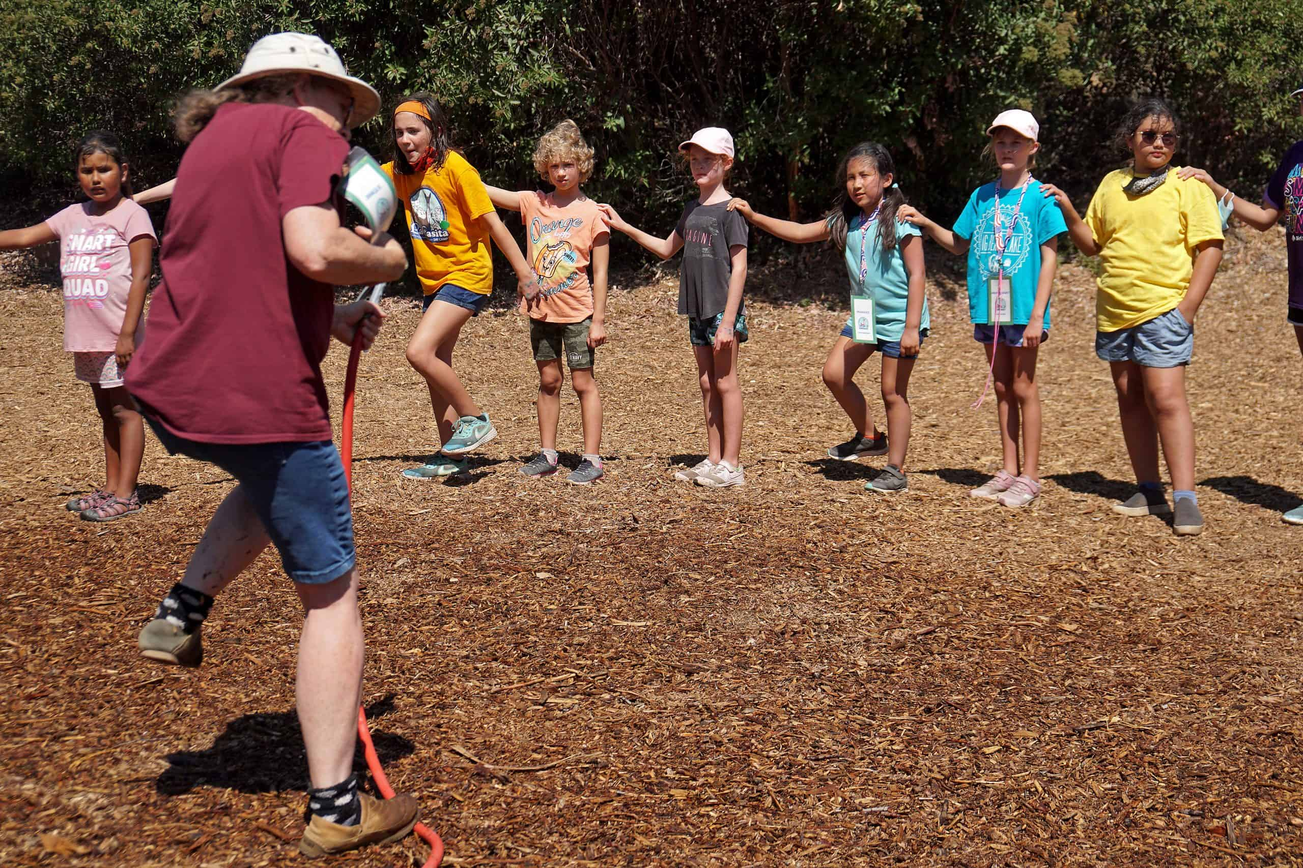 Girl Scouts Learn the Snail Song at Camp La Casita
