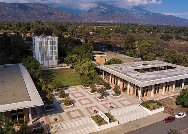 Aerial view of the Claremont School of Theology
